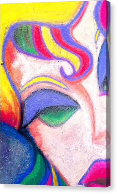 Painted Lady Graffiti Street Art Canvas Print