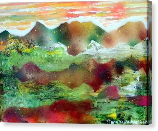 Painted Plateau Canvas Print