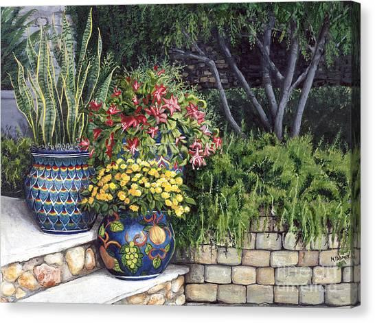 Painted Pots Canvas Print