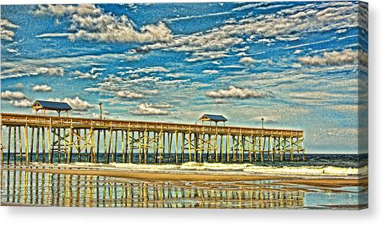 Surreal Reflection Pier Canvas Print
