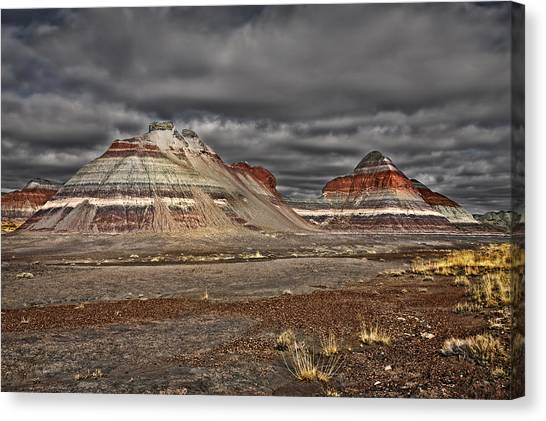 Petrified Forest Canvas Print - Painted Teepees by Medicine Tree Studios