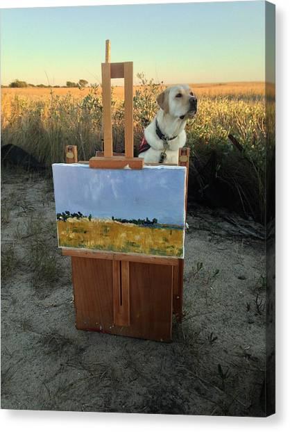 Painterly Lab Canvas Print