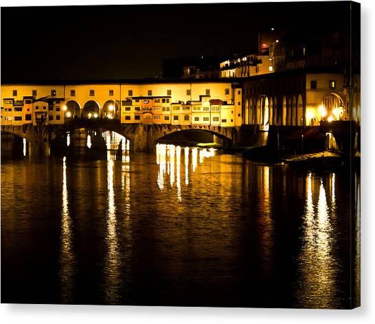 Painterly Ponte Vecchio Firenze Florence Italy Canvas Print