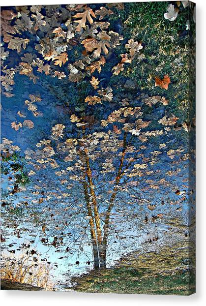 Painting In A Puddle Canvas Print
