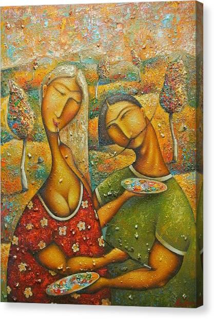 Painting Love Canvas Print