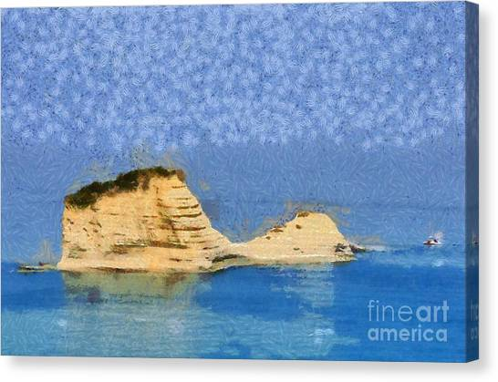 Islet In Peroulades Area Canvas Print