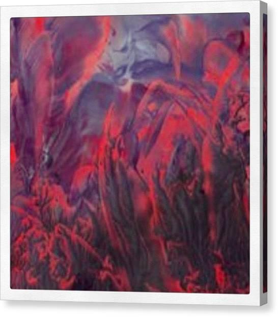 Apocalypse Canvas Print - #painting #paint #encaustic #lovecraft by Melanie Ramming