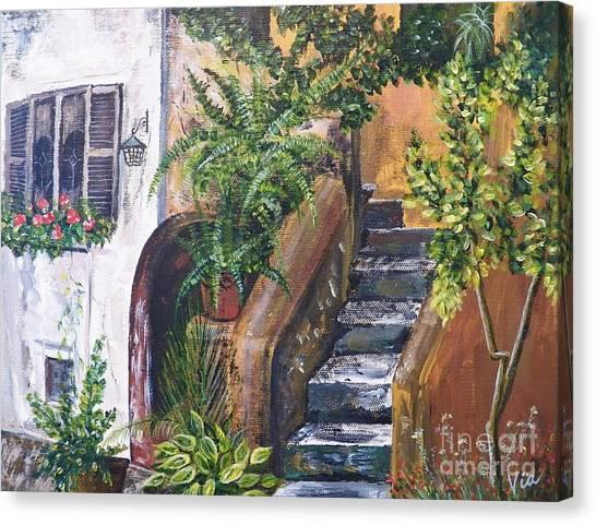 Painting    Siesta Steps Canvas Print
