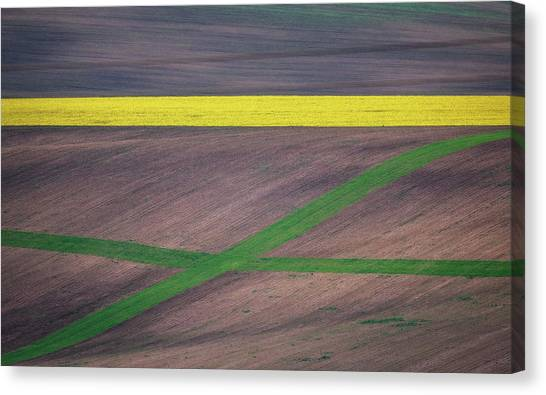 Farmland Canvas Print - Painting The Fields by Ales Krivec