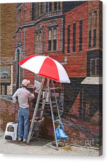 Painting The Past Canvas Print