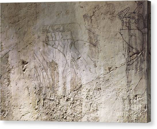 Painting West Wall Tomb Of Ramose T55 - Stock Image - Fine Art Print - Ancient Egypt Canvas Print