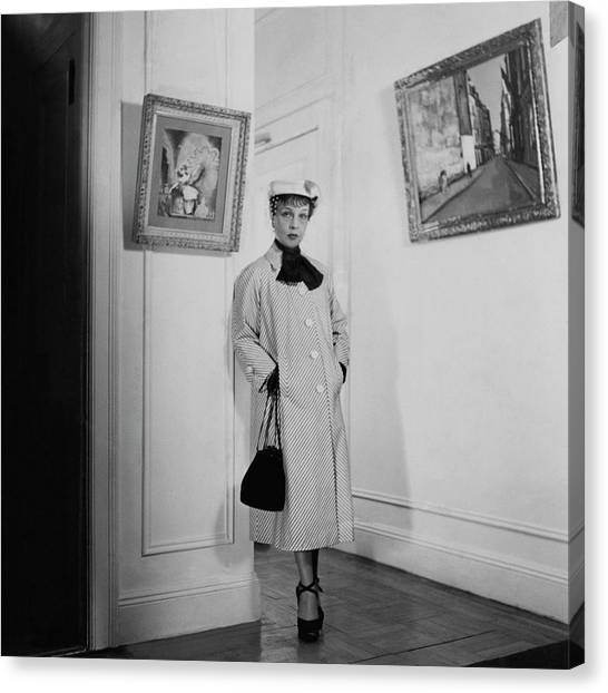 Paintings By Anita Loos Canvas Print by Cecil Beaton