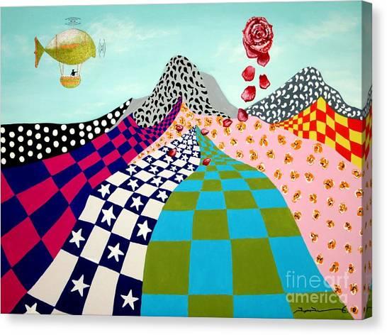 Paisley Mountain Canvas Print