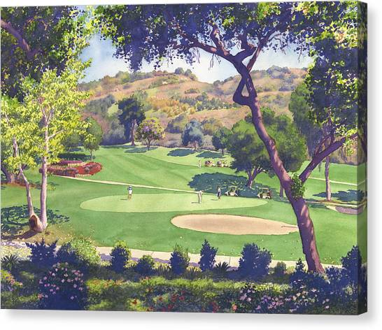 Golf Canvas Print - Pala Mesa Golf Course by Mary Helmreich