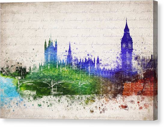 Westminster Abbey Canvas Print - Palace Of Westminster by Aged Pixel