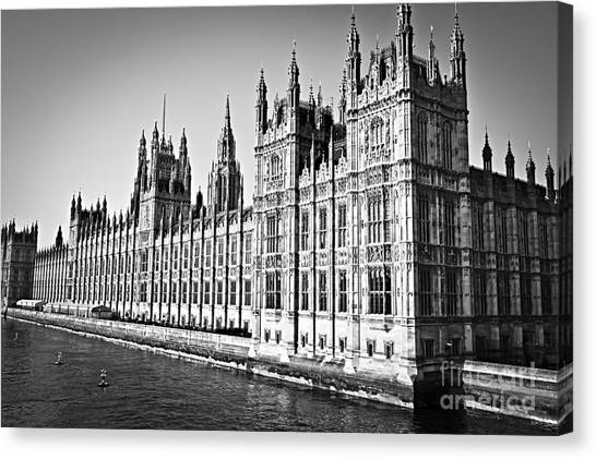 Parliament Canvas Print - Palace Of Westminster by Elena Elisseeva
