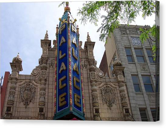 Palace Theater Canvas Print by Pamela Schreckengost