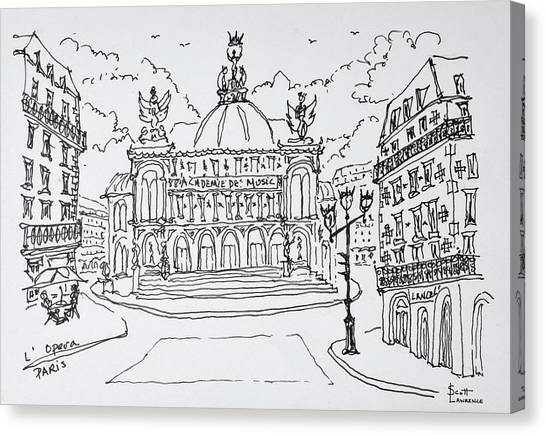 Scotty Canvas Print - Palais Garnier Opera House, Paris by Richard Lawrence