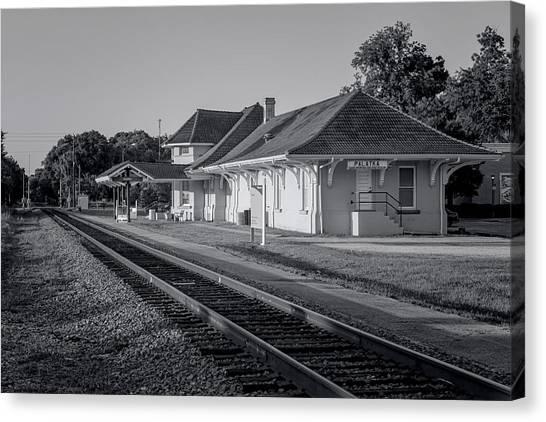 Palatka Train Station Canvas Print