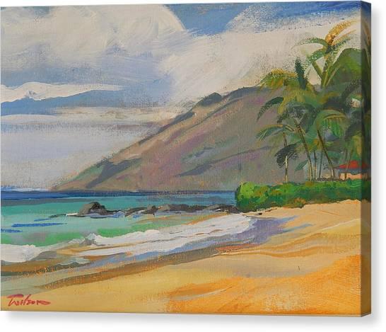 Palauea Beach Canvas Print by Ron Wilson
