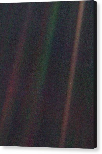 Pale Blue Dot Canvas Print by Nasa/science Photo Library