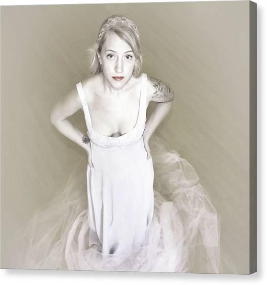 Pale Minimalist Bride Canvas Print