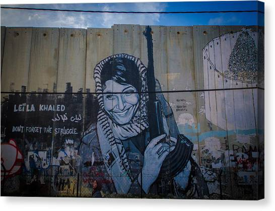 Palestinian Graffiti Canvas Print