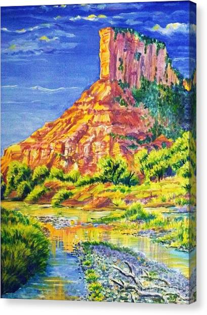Palisiade At Gateway Colorado Canvas Print by Annie Gibbons