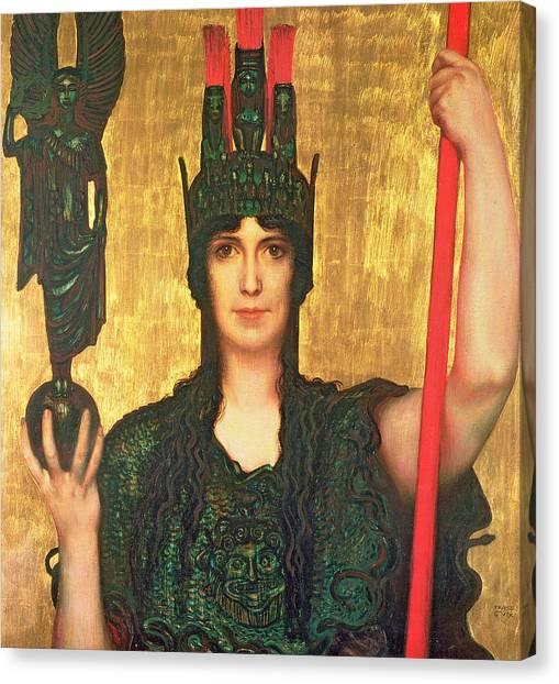 God Of War Canvas Print - Pallas Athena by Franz Von Stuck