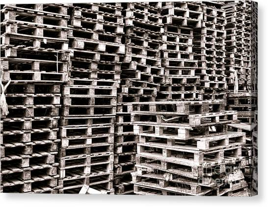 Freight Canvas Print - Pallets  by Olivier Le Queinec