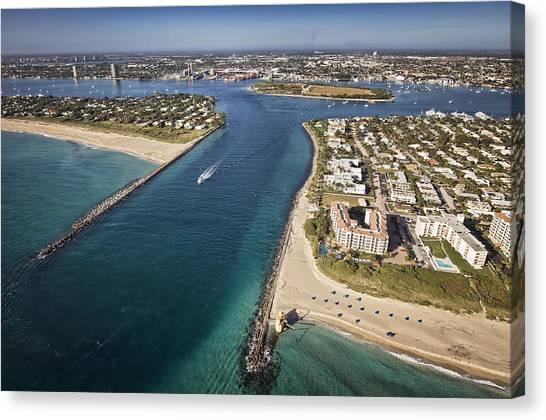 Palm Beach Inlet Canvas Print