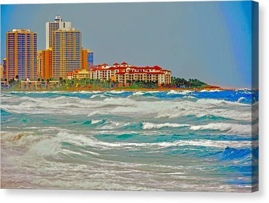Palm Beach Post Card Canvas Print