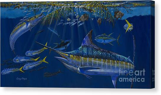Spearfishing Canvas Print - Palm Cover Off00148 by Carey Chen