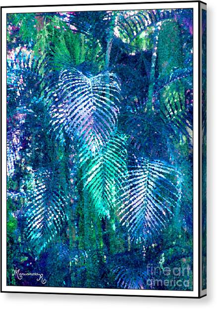 Palm Leaves Canvas Print by Mariarosa Rockefeller