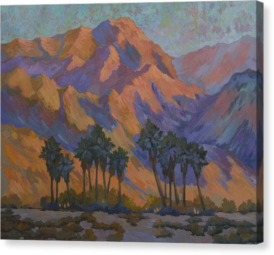 Oasis Canvas Print - Palm Oasis At La Quinta Cove by Diane McClary