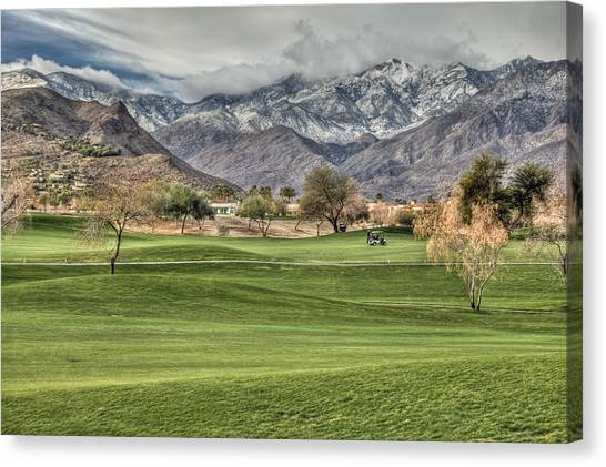 Palm Springs Winter Canvas Print