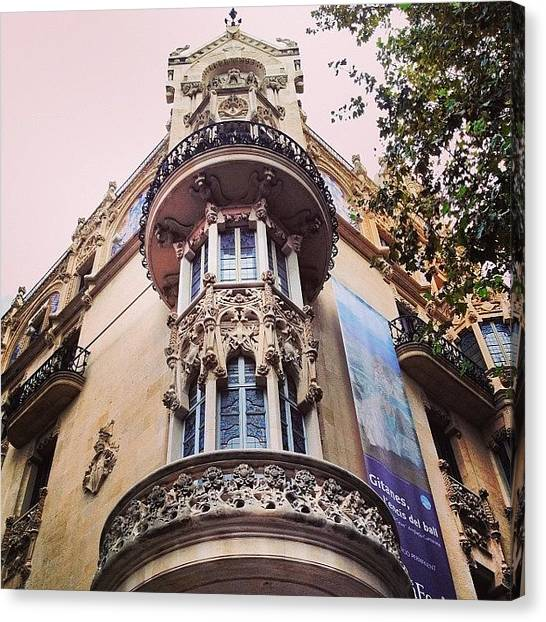 Art Nouveau Canvas Print - Palma's First #luxury #hotel (no by Balearic Discovery