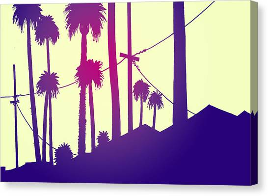 Los Angeles Canvas Print - Palms 2 by Giuseppe Cristiano