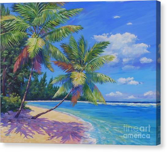 Fiji Canvas Print - Palms At Winter Haven by John Clark