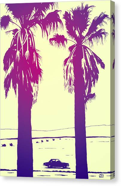 Desert Canvas Print - Palms by Giuseppe Cristiano