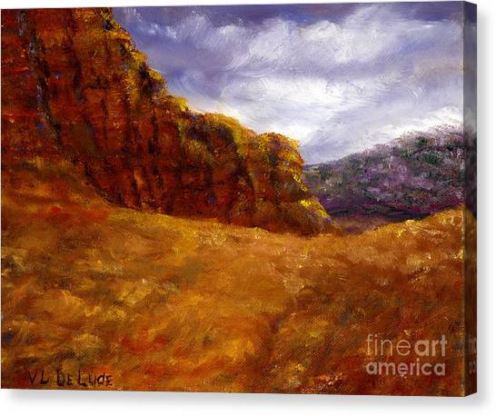 Palo Duro Canyon Texas Hand Painted Art Canvas Print