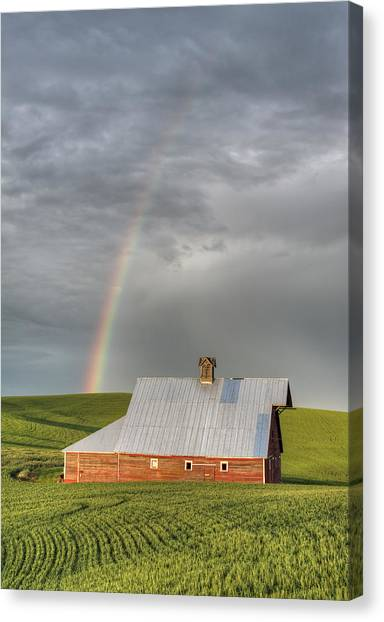 Palouse Rainbow Canvas Print