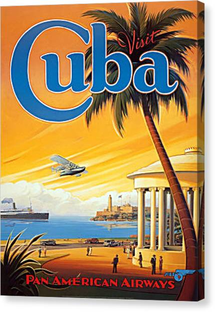 Pan Am Cuba  Canvas Print