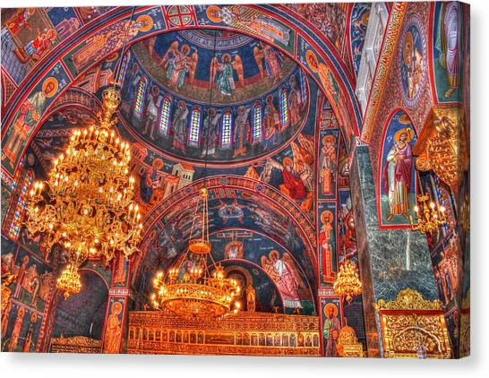 Panagia Katholiki Kremasti Rhodes Canvas Print