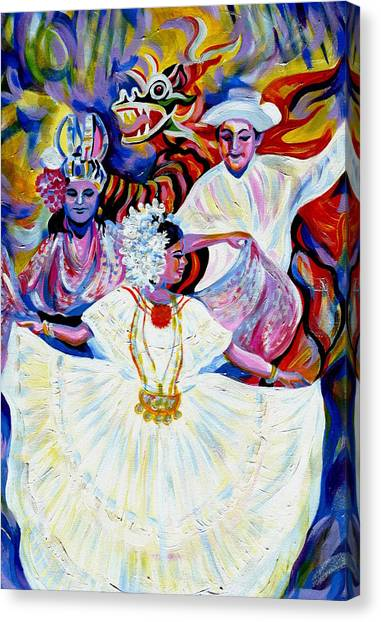 Panama Carnival. Fiesta Canvas Print
