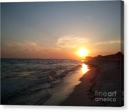 Panama City Beach Sunset Canvas Print