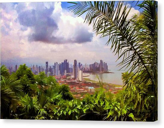 Panama City From Ancon Hill Canvas Print