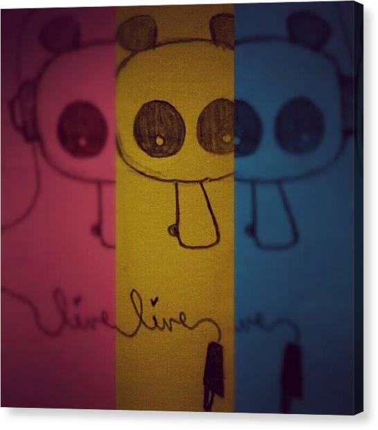 Panda Canvas Print - Panda by Alyssa Lee