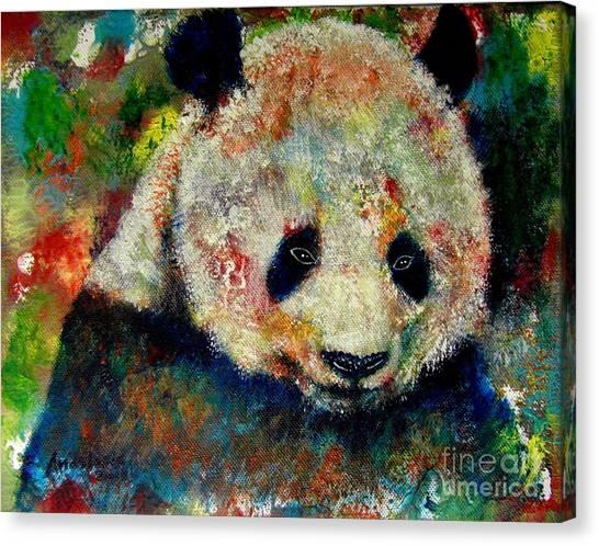 Panda Bear Canvas Print by Anastasis  Anastasi