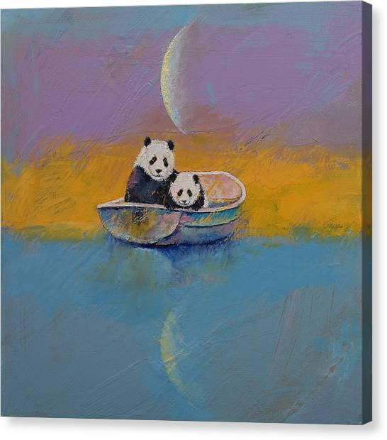 Luna Canvas Print - Panda Lake by Michael Creese